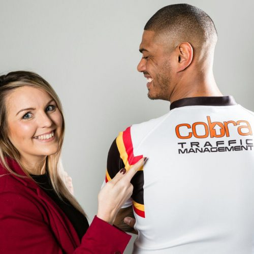 Cobra Traffic manegement, proud sponsors of Bradford Bulls