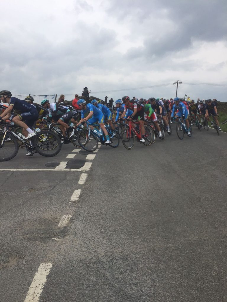 Competitors take part in the Tour De Yorkshire