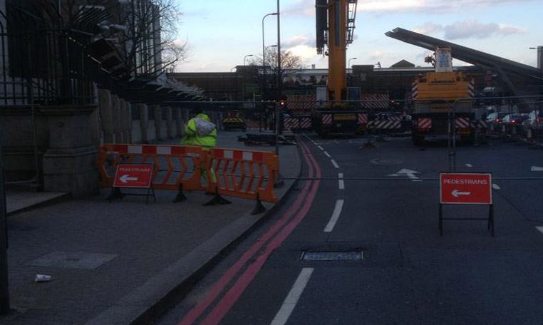 Pedestrian Management is used to divert the public and prevent access from a street works site