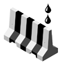 Water Filled Barrier Icon